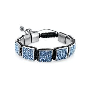 Shamballa Bracelet with Blue Crystal Squares